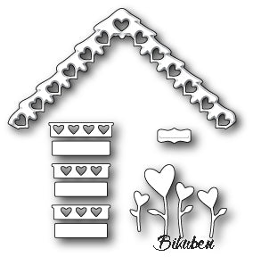 Poppystamps - Dies - Love Cottage Roof and Decor