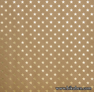 Bazzill - Speciality Paper - Gold Foil Stars 12x12""