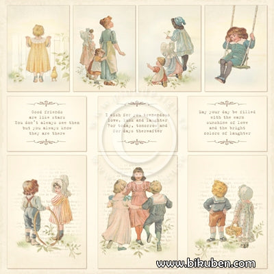 Pion Design - Images from the Past - Grandma's School Book  12x12""