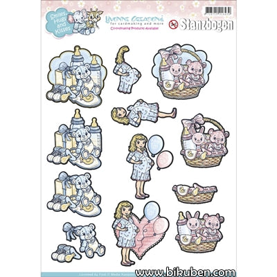 Yvonne Creations - 3D Punchout Sheet - Smiles & Hugs 2