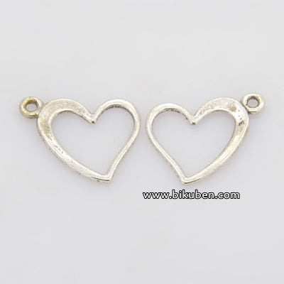 Charms - Antique Silver - Sweet Hearts