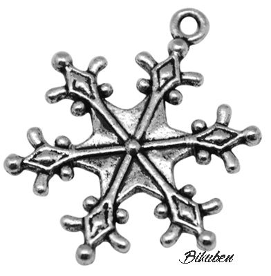 Charms - Antique Silver - Snow Crystal