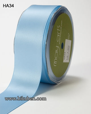 May Arts - Double faced Satin - Light Blue - METERSVIS