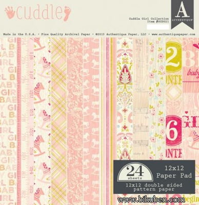 "Authentique - Cuddle Girl - 12x12"" Paper Pad"