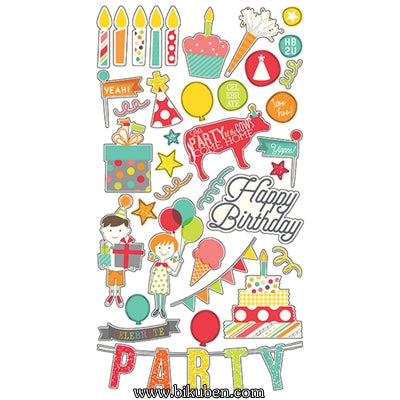 Simple Stories - Let's Party - Chipboard