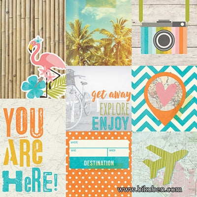 "Simple Stories - You are Here - 4x4"" & 4x6"" Vertical Journaling Card Elements"