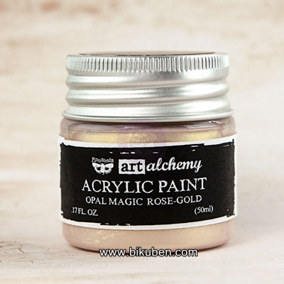 Prima - Art Alchemy by Finnabair - Acrylic Paints - Opal Magic -  Rose-Gold