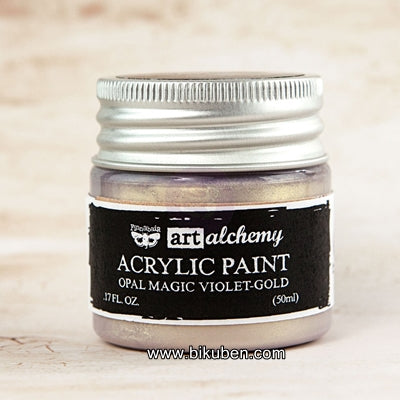 Prima - Art Alchemy by Finnabair - Acrylic Paints - Opal Magic - Violet-Gold