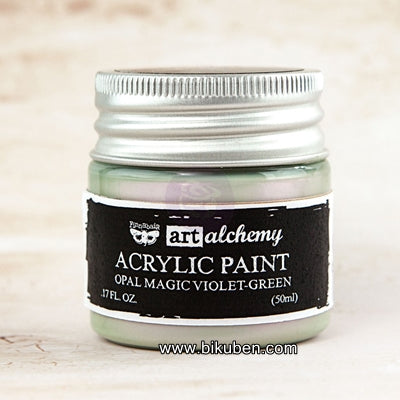 Prima - Art Alchemy by Finnabair - Acrylic Paints - Opal Magic - Violet-Green