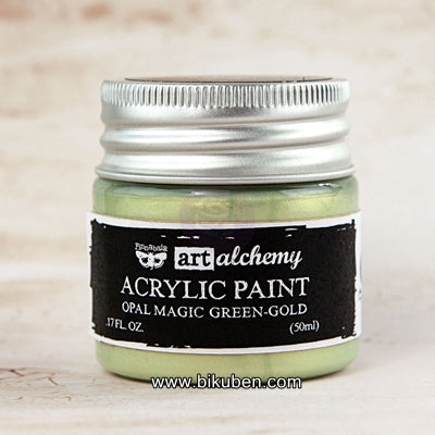 Prima - Art Alchemy by Finnabair - Acrylic Paints - Opal Magic -  Green-Gold