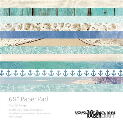 "KaiserCraft - Coastal Escape - 6,5x6,5"" Paper Pad"