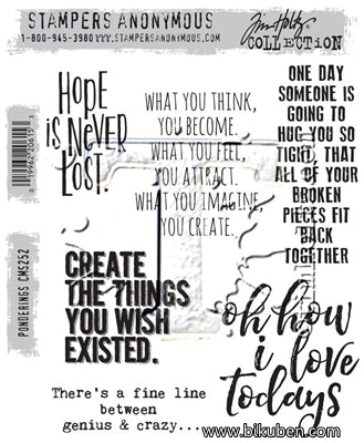 Tim Holtz Collection - Ponderings - Stamps