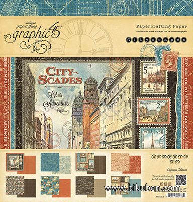 "Graphic45 - Cityscapes - 12x12"" Paper Pad"