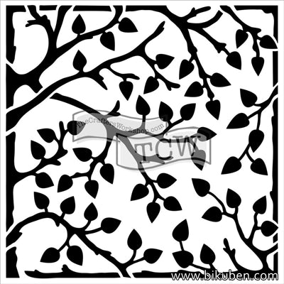 The Crafter's Workshop - Leafy Branches 6x6""