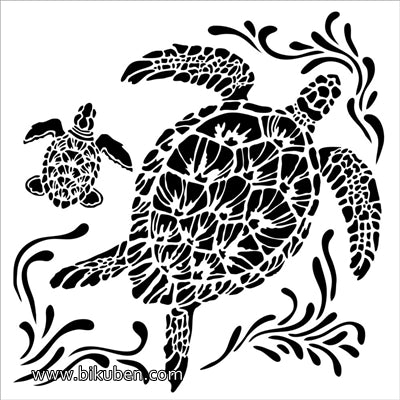 The Crafter's Workshop - Sea Turtles 6x6""