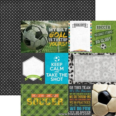PaperHouse - All Star Soccer - Soccer Tags 12x12""