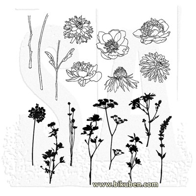 Tim Holtz Collection - Mini Bouquet - Stamps