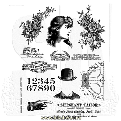 Tim Holtz Collection - Ladies & Gentlemen - Stamps