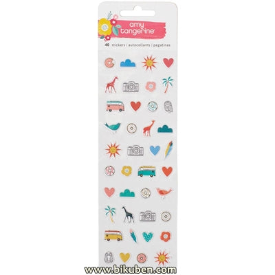 American Crafts - Oh Happy Life - Puffy - Mini Icon Stickers
