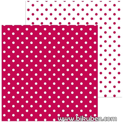 Doodlebug - Swiss Dot - Ruby 12x12""