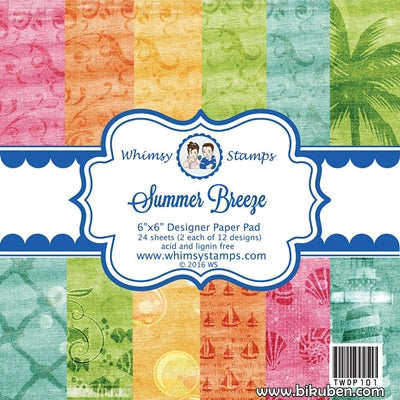 "Whimsy Stamps - Summer Breeze - 6x6"" Paper Pad"