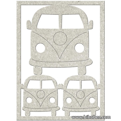 FabScraps - Chipboard - Combi Bus - Diecut