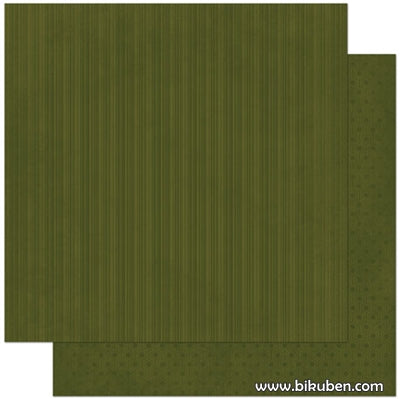 BoBunny - Double Dot - Olive Stripe 12x12""