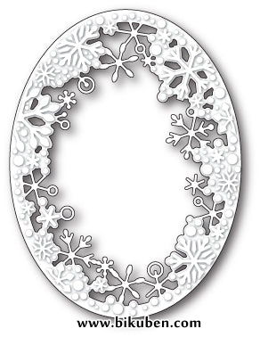Memory Box - Craft Dies -  Dancing Snowflake Oval