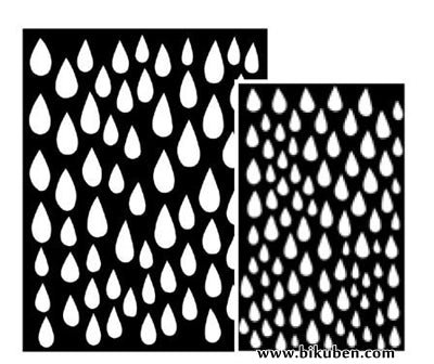 Dylusions - Large Stencils - Raindrops