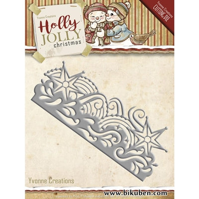 Yvonne Creations - Holly Jolly Snowflake Border Dies