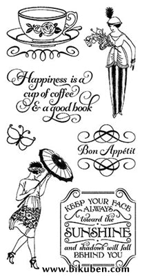 Graphic45 & Hampton Art - Cafè Parisian -  Cling Stamps 3
