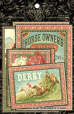 Graphic45 - Off to the Races - Ephemera Cards