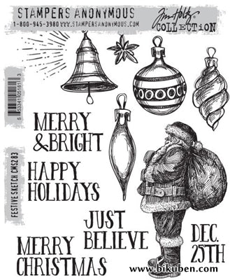 Tim Holtz Collection - Festive Sketch - Stamps