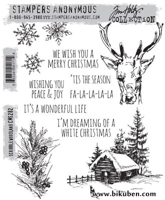 Tim Holtz Collection - Scribble Woodland - Stamps