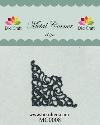 Dixi Craft - Metall Hjørner - Sort