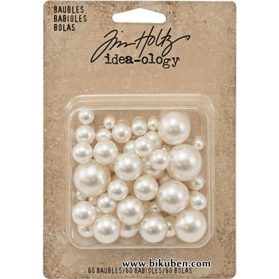 Tim Holtz - Ideaology - Baubles - Cream Pearls
