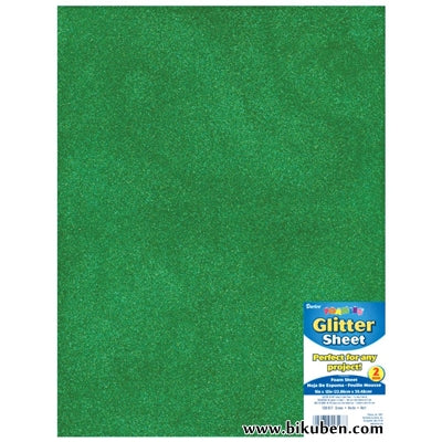 Darice - Glitter Foam Sheet - Green