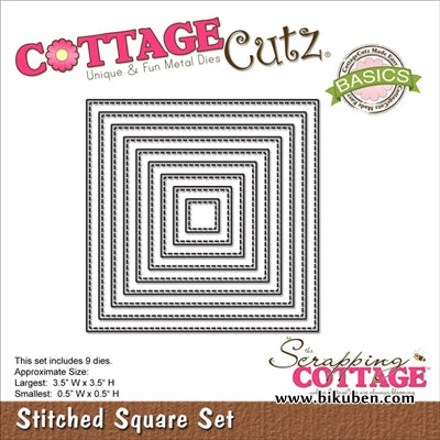 Cottage Cutz - Basic - Stitched Square Dies
