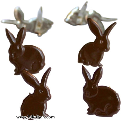Eyelet Outlet - Chocolate Bunnies Brads