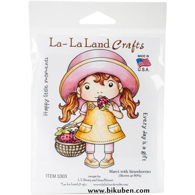 La La Land Crafts - Marci with Strawberry - Red Rubberstamp