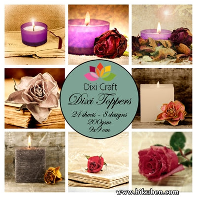 Dixi Craft - Toppers - Candles (9cm x 9cm)