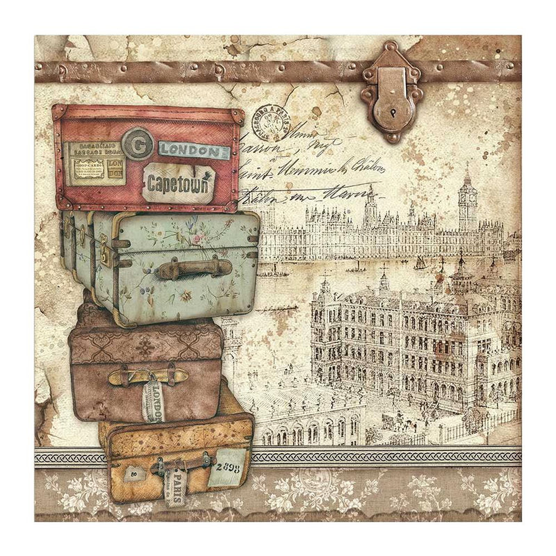 Stamperia  - Lady Vagabond - Luggage  -  12 x 12""