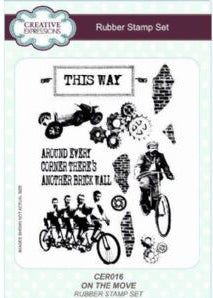 Creative Expressions - Clear Stamp - On the Move