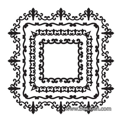 Spellbinders - Cling Mount Stamp - Squared Magnificence
