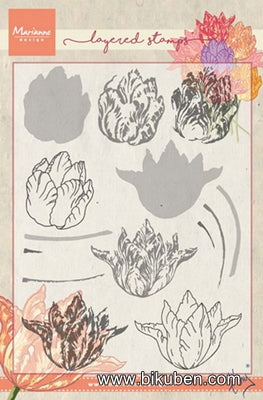 Marianne Designs - Clear Stamp - Tiny's Tulip Layered Stamp set