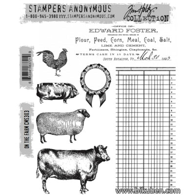 Tim Holtz Collection - Cling Stamps - On the Farm