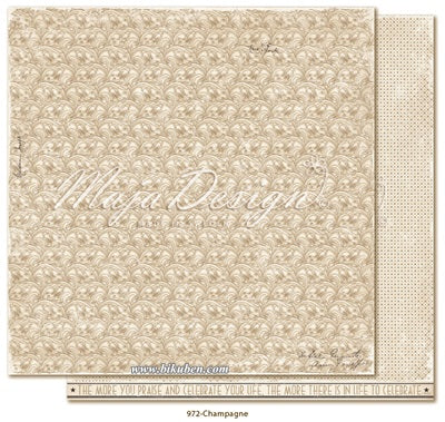 Maja Design - Celebration - Champagne      12 x 12""