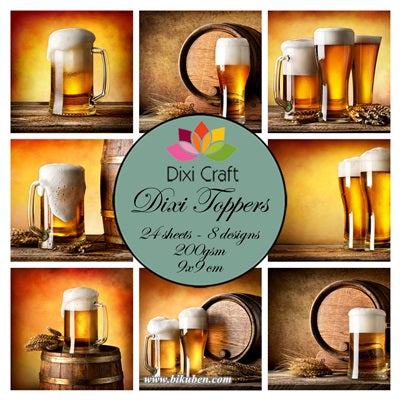 Dixie Craft - Toppers - Beer -  (9cm x 9cm)