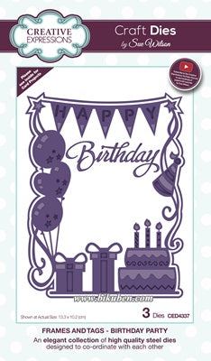 Creative Expression - Frames and Tags - Birthday Party