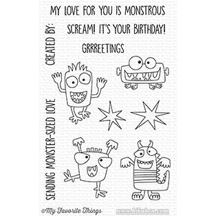 Die-Namics - Monster Sized - Clear Stamps